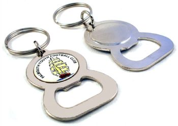 Bottle opener keyring round decal